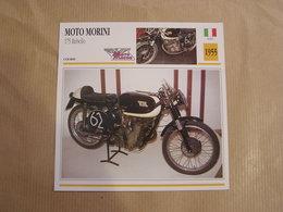 MOTO MORINI 175 Rebello  Italie 1955  Moto Fiche Descriptive Motocyclette Motos Motorcycle Motocyclette - Picture Cards