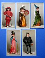 5 CHROMOS LITHOGRAPHIES  ....PERSONNAGES HISTORIQUES - Vieux Papiers