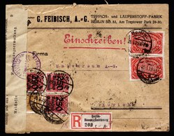 A5995) DR Infla R-Brief Berlin-Baumschulenweg 25.09.23 N. Zürich Devisenkontrolle Freiburg - Briefe U. Dokumente