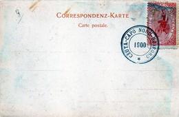 Luigi Masetti - 1900 Raid Cicloturistico Ceuta - Capo Nord - Bosforo - Chiudilettera Su Cartolina Postale - Cycling