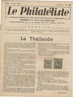 LE PHILATELISTE - Revue Bimensuelle N°17 - 1942  - La Thaïlande - Books, Magazines, Comics
