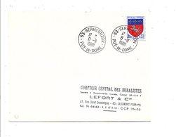 OBLITERATION DE SERMENTIZON PUY DE DOME 1969 - Marcofilia (sobres)