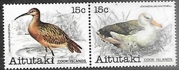 Aitutaki Cook Islands  1981   Sc#232a   15c Birds Pair   MNH   2016 Scott Value $2.75 - Aitutaki