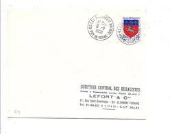 OBLITERATION DE LES MARTRES D'ARTIERES PUY DE DOME 1968 - Marcofilia (sobres)