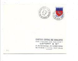 OBLITERATION DE LES MARTRES D'ARTIERES PUY DE DOME 1968 - 1961-....