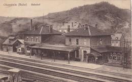 ALLEMAGNE . CPA RARETE. OBERSTEIN. LA GARE ( BAHNHOF). ANNEE 1920 + TEXTE - Idar Oberstein