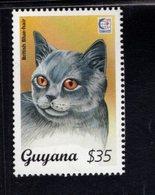 740908349 POSTFRIS  MINT NEVER HINGED EINWANDFREI SCOTT 2945D DOMESTIC CAT BRITISH BLUE-HAIR - Guyane (1966-...)