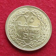 Lebanon 25 Piastres 1970 KM# 27.1 *V2 Liban Libano Libanon - Lebanon