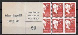 Suède 1958 Carnets C 434 Neuf Selma Lagerlof - 1951-80