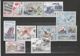 TAAF: Poste Aérienne N°95 Au N°104 (YT) ** (MNH) - Collections, Lots & Séries