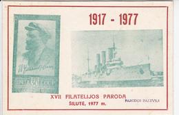 USSR  Philatelic Exhibition Souvenir Sheet Silute Lithuania 1977  PARODOS DALYVIUI - 1923-1991 UdSSR