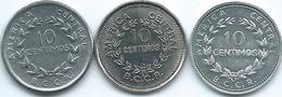 Costa Rica - 1958 - 10 Centimos - KM185.1a; 1979 - KM185.2a & 1982 - KM185.2b - Costa Rica