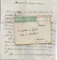 1892 - CALEDONIE - LETTRE ANONYME De DENONCIATION D'une FEMME DE MAUVAISE VIE !!! Au CDT D'un NAVIRE De GUERRE à NOUMEA - Briefe U. Dokumente