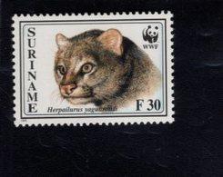 740909966 POSTFRIS  MINT NEVER HINGED EINWANDFREI SCOTT 1011 WWF ANIMALS CAT - Surinam