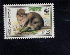 740910197 POSTFRIS  MINT NEVER HINGED EINWANDFREI SCOTT 1010 WWF ANIMALS CAT - Surinam