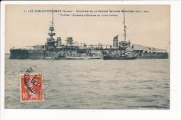 LES SABLES D'OLONNE - Grande Semaine Maritime 1909 - Le Cuirassé Patrie ( Bateau De Guerre ) - Sables D'Olonne