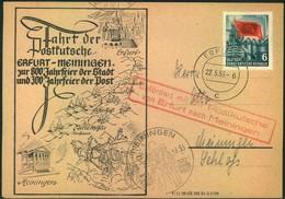 1953/1955, DDR: 10 Belege Thema Postkutschen Und Postreiter - Post