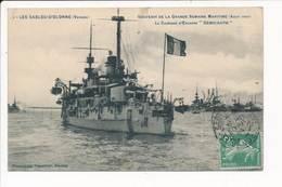 LES SABLES D'OLONNE - Grande Semaine Maritime 1909 - Le Cuirassé DEMOCRATIE  ( Bateau De Guerre ) - Sables D'Olonne