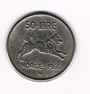 )  NOORWEGEN  50  ORE 1966 - Norvège
