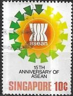 SINGAPORE 1982 15th Anniv Of A.S.E.A.N - 10c A.S.E.A.N. Emblem FU - Singapour (1959-...)