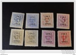 Belgique 1962- 1963  Lot De8  Timbres * Chiffre Sur Lion Héraldique Dont 720 - Tipo 1951-80 (Cifra Su Leone)