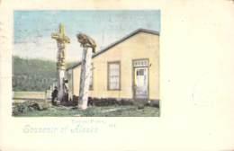 Souvenir  Of Alaska Totem Poles 1899 AKS - Gruss Aus.../ Grüsse Aus...