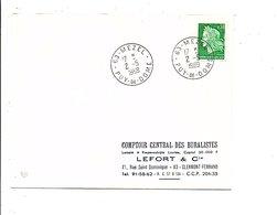 OBLITERATION DE MEZEL PUY DE DOME 1969 - Marcofilia (sobres)