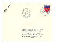 OBLITERATION DE VARENNES SUR MORGE PUY DE DOME 1967 - 1961-....