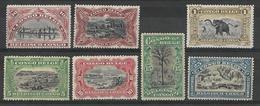 CONGO Belge / Belgian Congo : 1916 - Timbres De 1894-1900 Avec Inscriptions Bilingues. Charnière / MH. N° 64 à 70. - Congo Belga