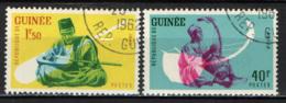 GUINEA - 1962 - STRUMENTI MUSICALI AFRICANI - USATI - Guinea (1958-...)