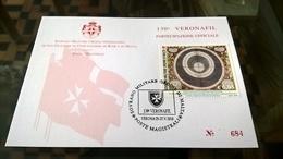 SMOM 2018 PARTECIPAZIONE UFFICIALE VERONAFIL - Sovrano Militare Ordine Di Malta