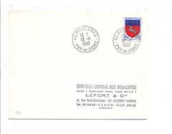 OBLITERATION DE PASLIERES PUY DE DOME 1968 - Marcofilia (sobres)
