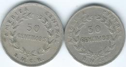 Costa Rica - 1937 - 50 Centimos (KM176) & 1948 (KM182) - Costa Rica
