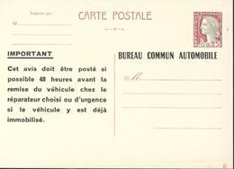 Entier Marianne Decaris Type A4 Neuf Bureau Commun Automobile - Biglietto Postale