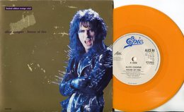 Alice Cooper- 45t De Couleur Orange- House Of Fire - Hard Rock & Metal