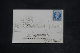 FRANCE - Enveloppe Du Commissariat De Police De Villenauxe ( Cachet Au Verso ) Pour Nemours En 1861 - L 26117 - 1849-1876: Période Classique