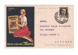 CARTOLINA CARTE POSTALE  OLIO D'OLIVA MORO GENOVA  Illustratore LUBATTI - Pubblicitari