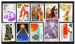 LKA226 SPANIEN 1988 MICHL 2812/19 + 2826/27 ** Postfrisch Siehe ABBILBUNG - 1931-Heute: 2. Rep. - ... Juan Carlos I