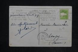 PALESTINE - Affranchissement De Jérusalem Sur Carte Postale En 1929 Pour La France , Oblitération Mécanique - L 26119 - Palestine