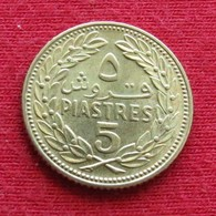 Lebanon 5 Piastres 1970 KM# 25.1  Liban Libano Libanon - Libanon