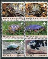 (lot 5)  Angola Ob - Lot De Tbres Formant Un Bloc De 6 Tbres -  Tortues - - Turtles