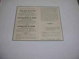 Bidprentje V. Kamiel ,Jozef, Jan De Keyser Geboren Te Waarschoot En Overled. Te Lovendegem 1954;De Reytere;Baele;Sierens - Devotion Images