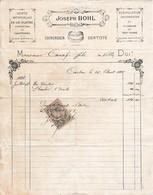 1881 - CHIRURGIEN-DENTISTE - Dents Artificielles En Hippopotame, Or, Caoutchouc & Platine - Joseph BOHL - Castres - Documents Historiques