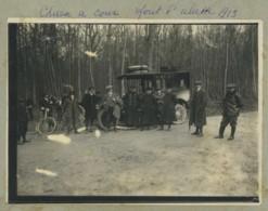 Chasse à Courre . Forêt D'Halatte (Oise) . 1913 . Automobile . - Sports