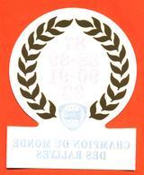 Autocollant Lancia Champion Du Monde Des Rallyes - 87-88-89-90-91-92 - Chardonnet - Autocollants