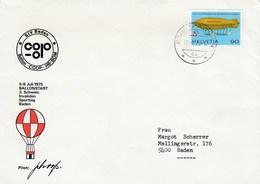 #5 Znr 564 Ballon COOP HB-BOM 20/07/75, 20/07/1975 Non Migros. Invaliden Sporttag Baden - Primi Voli