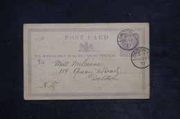 ROYAUME UNI - Entier Postal Commerciale ( Repiquage Au Verso ) De Londres Pour Dalston En 1871 - L 26127 - Stamped Stationery, Airletters & Aerogrammes