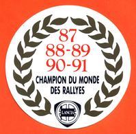 Autocollant Lancia Champion Du Monde Des Rallyes - 87-88-89-90-91 - Chardonnet - Autocollants