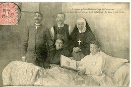 949. CPA 62 COURRIERES. CARTE PRESQUE ENTIEREMENT DEDOUBLEE. LE JEUNE GALIBOT MARTIN ESCAPE DE COURRIERES..SA MERE..1906 - France