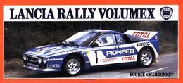 Autocollant Lancia Rally Volumex Jean Claude Andruet - écurie Chardonnet - Autocollants